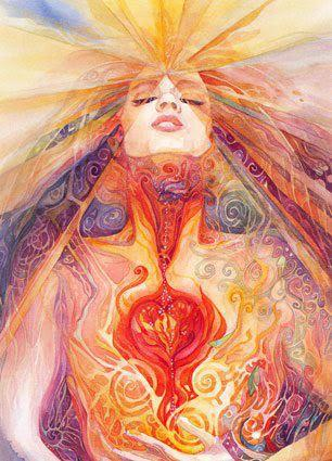 goddess- choices-love    Painting by Helena Nelson Reed